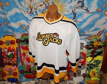 vintage Cleveland Lumberjacks Hockey Jersey - original - sz l/xl