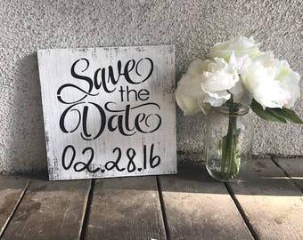 Save the Date - Rustic Sign - Engagement Photos Sign - Save the Date Sign - Future Mr and Mrs - Engagement Photos Prop -Wood Sign
