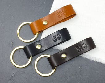 Personalised Leather Key Ring, Personalised Leather Key Fob, Leather Key Ring, Leather Key Fob, Personalized, Gifts For Him, Gifts For Her
