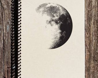 SALE - Moon Notebook - Moon Journal - Outer Space - Dark Side of the Moon