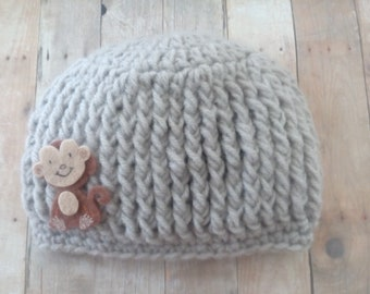 Crochet Baby Hat, Baby Boy Hat, Hat fit 4 months old, Baby Shower Gift
