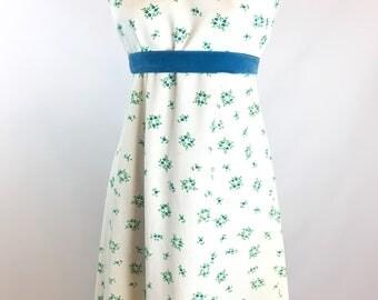 Vtg Womens S Maxi Dress HEART BOQUET Velvet Accents