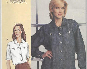 Vogue Today's Fit Shirt  pattern - OOP  Sizes A-J