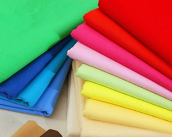 Solid Canvas Fabric,Colorful Cotton Canvas Fabric for Bag Sofa Home Decor Curtain Upholstery 1/2 yard f312