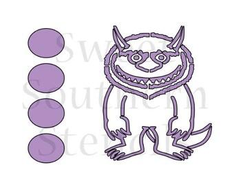 Monster PYO Cookie Stencil