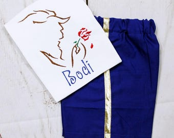 Boys The Beast Shirt- Toddler boys- Beauty and the Beast Shirt-The Beast Shorts- Beauty and the Beast outfit-6m, 12m, 18m, 2t, 3t, 4t, 5t, 6