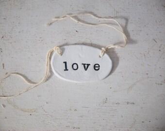 Clay Love Gift Tag, Love gift tag, gift tag, clay gift tag, love tag