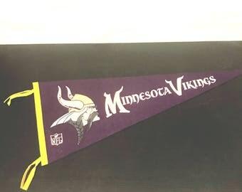 Vintage Wool MN Vikings NFL Pennant 1960s