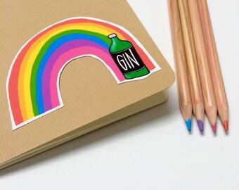 Rainbow Gin Sticker
