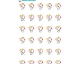 Happy Mail Unicorn Planner Stickers