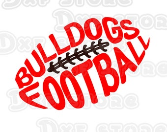 Bulldogs Football| SVG| DXF| EPS| Png| Cut File| Bulldogs| Football| Mom| Dad| Silhouette| Cricut| Digital Download