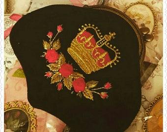 Golden Red Crown purse