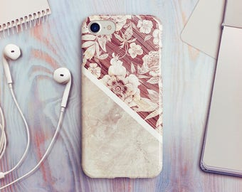 Floral Marble iPhone 7 Case iPhone 8 Case iPhone X Case iPhone 7 Plus Case iPhone SE Case iPhone 8 Plus Case iPhone 6 Case iPhone 5s Case