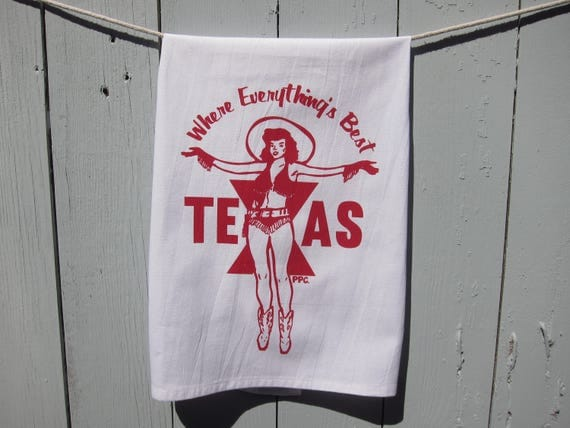 Where Everything's Best - Texas Tea Towel