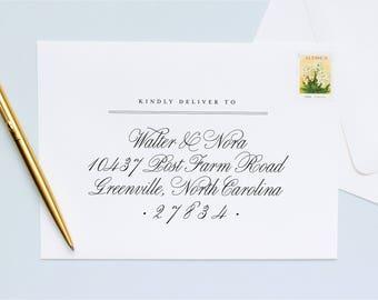 Guest + Return Address Printing   Folk Script