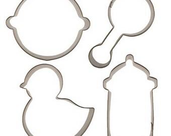 Baby Shower Cookie Cutter Set, Baby Fondant Cutter Set, Baby