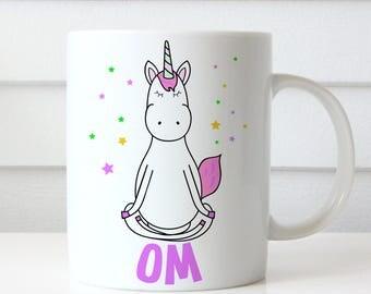 Coffee Mug Yoga Unicorn Om Coffee Cup