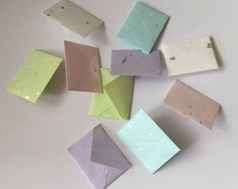 Mini envelopes and inserts, tiny envelopes, tiny cards, pastel, tooth fairy letter, party favour, lunch box note, wedding favour, baby