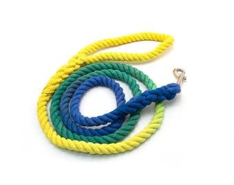 "Rope Leash ""The Misfit"" Hand dyed dog leash"