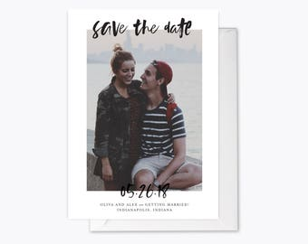 Minimal Date Photo Save the Date printable
