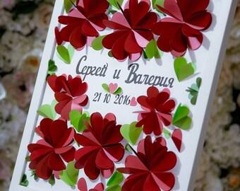 Wedding guest book alternative - 3d heart guestbook - Heart Guest Book - Hochzeit Gast Buch by Pomponi