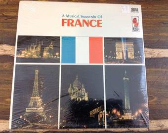 A Musical Souvenir of France All-Time New and Old French Favorites Vintage Vinyl Record LP Factory Sealed