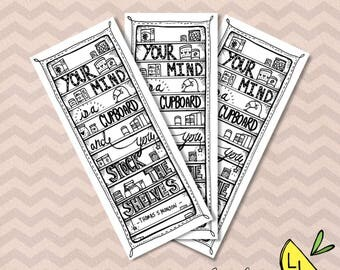 LDS Bookmarks, Cupboard Quote, Cute Bookmarks, Black and White, Printable Art,Thomas S. Monson,Printable Art Quotes, lds bookmarks,LDS gifts