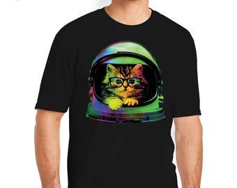 Space Cat T-Shirt, Cat T-Shirts, Kitten Tees, Cat Tee, Kitten, Cat, Cat Shirt, Cat T-Shirt, Kitten T-shirt, Cat Tees, Colorful Cat Tee