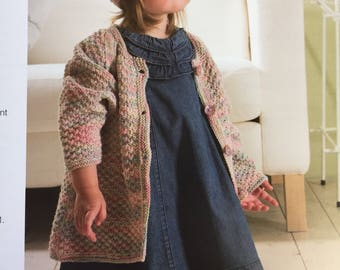 Knitting pattern for a baby girl cardigan and hat made of Rico Baby cotton soft yarn Rico Design pattern nr 529