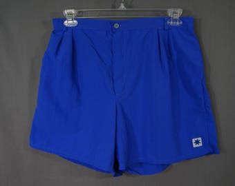Vintage 90's Starbus Windscreens Swim Trunks Size XL Blue Summer, Pool, Swimming