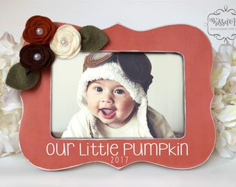 Personalized picture frameswedding accessories by kisselave our little pumpkin personalized new baby frame new baby gift 4x6 frame negle Images