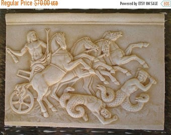 For Sale Zeus On Chariot Fighting the Titans - Titanomachy -Relief-Anaglyph-War of Titans