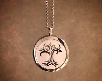 Rose Gold Diffuser Locket | Essential Oil Diffuser | Aromatherapy Locket | Tree of Life Locket | Oil | Tree of Life | Essential Oil Diffuser
