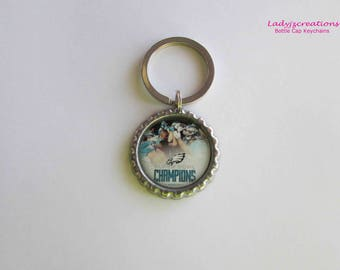 Eagles Championship Bottle Cap Keychain