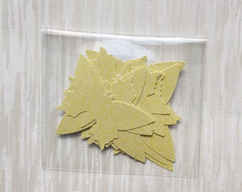 Yellow paper butterflies
