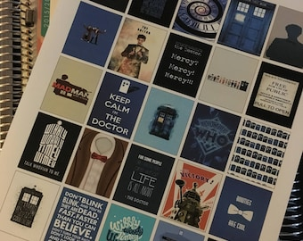Printable Dr. Who Boxes for Planners