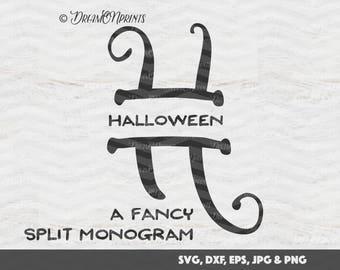 Halloween Split Monogram Svg, Split Letter Monogram, Split Font Svg, Split Alphabet Svg, Split Svg, Cricut or Silhouette, Letters SVDL010