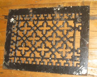 Antique Cast Iron Floor Grate , Grate , Heating Grate , Floor Grate