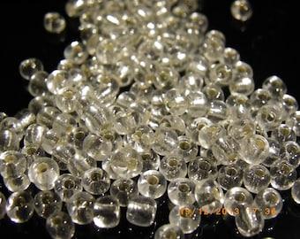 200 transparent 4 mm white glass beads