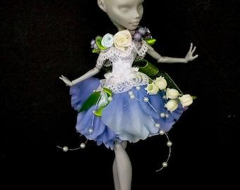 Monster high clothes, MH dress, blythe dress, Flower Fairy, Monster High clothes, MH dresses, handmade