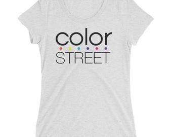 Ladies' short sleeve t-shirt - Color Street Logo