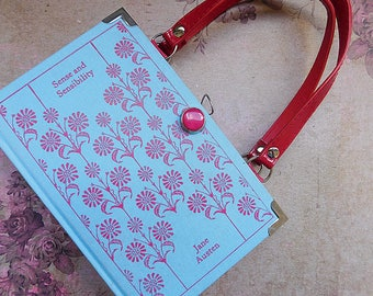 Sense and Sensibility - Jane Austen - Upcycled book - Handmade - Bag made from a book