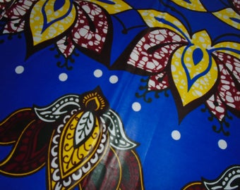African Wax Print Fabric, sold by the Half Yard