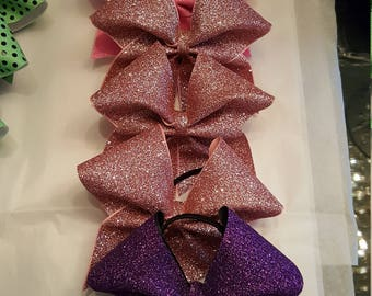 All Glitter Pig Tail Bow