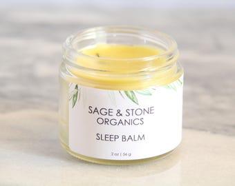 Sleep Balm | Natural Sleep Aid | Vegan Sleep Salve | Beeswax Free