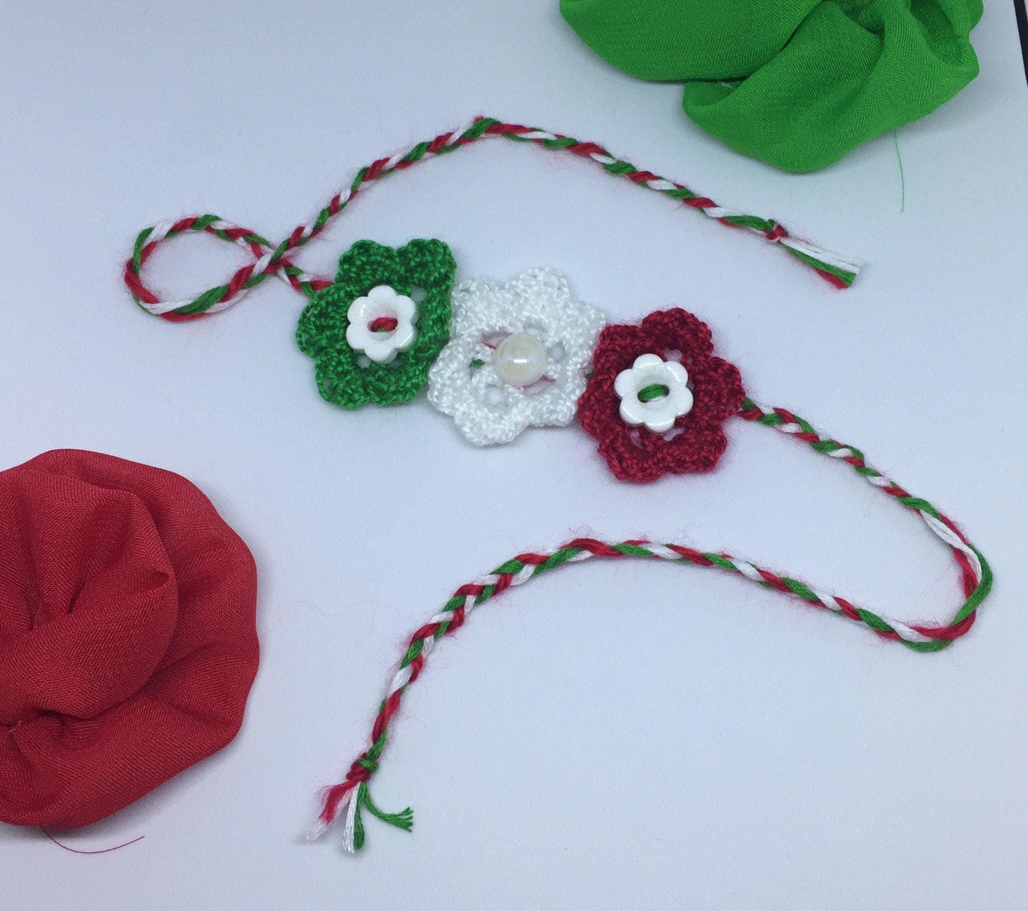 baby newborn mexico flag colors headband handmade crochet