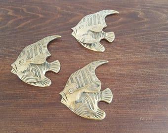Brass Fish Wall Decor - Set of 3