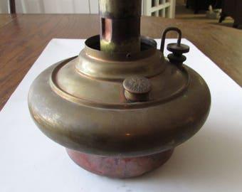 Vintage Brass Oil Lamp Font Tank Part Miller USA
