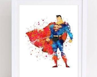 70%OFF Superman watercolor poster superman nursery kids decor printable wall art watercolor kids room art nursery superman watercolor printa