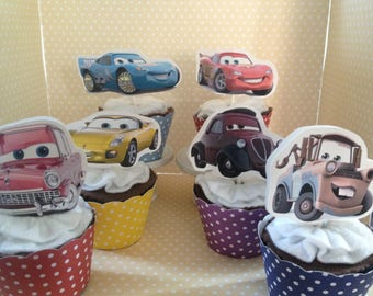 Disney Cars 3 Party Cupcake Topper Decorations - Set of 10